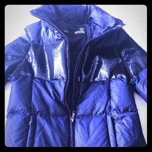 LOVE MOSCHINO winter jacket ORIGINAL Navy Blue